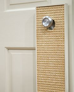 Door Cat Scratcher  Save your furniture from your cat's claws by making this simple cat scratcher from carpet remnants.  Watch the Video: See Martha make this craft.  Get Instructions for Making a Door Cat Scratcher