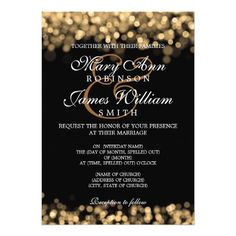 Elegant Wedding Gold Lights 5x7 Paper Invitation Card Turquoise Set