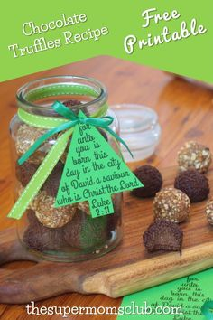 This yummy chocolate truffles recipe is super easy to make and doubles up as a perfect gift with our FREE printable gift tag. Free Printable Gift Tags, Free Printables, Truffle Recipe, Chocolate Truffles, Free Food, Foodies, Christmas Crafts, Yummy Food, Diy Crafts