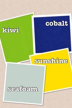 Fresh new colours for Spring. Reloved Vintage chalk style Paint. Seafoam. Sunshine. Cobalt. Kiwi.