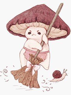 Mushroom Drawing, Mushroom Art, Pink Mushroom, Cute Little Drawings, Cute Drawings, Arte Sketchbook, Hippie Art, Art Drawings Sketches, Aesthetic Art