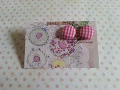 handmade hot pink gingham fabric covered button by maxollieandme