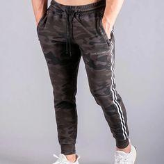 Fitness Letter Striped Print Self-tie Side Zipper Pants – maxgonia Long Pants, Men's Pants, Type Of Pants, Autumn Summer, Stripe Print, Going Out, Black Jeans, Sweatpants, Zipper