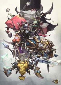 Warcraft x Adventure Time, Tan Zhi Hui on ArtStation at https://www.artstation.com/artwork/8yVkG