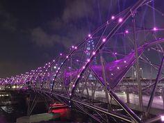 Night lights # Helix bridge # Singapore
