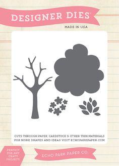 Echo Park - Spring Collection - Designer Dies - Seasonal Tree