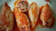 Estos calamares rellenos en salsa son quizás una de las recetas mas típicas de calamares, podéis hacerla con calamares grandes o pequeños, ...
