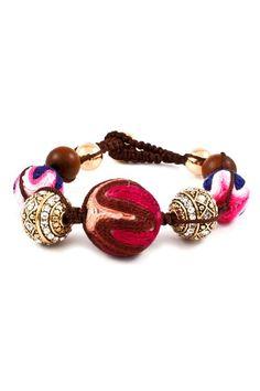 Crochet Poppy Shambella Bracelet | Emma Stine Jewelry Bracelets