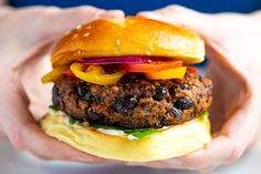 These extra easy black bean burgers taste amazing and come together in minutes! These are dairy, egg, and gluten free and will make both the meat eaters and non-meat eaters in your life happy! All You Need Is, Salsa, Black Bean Burgers, Homemade Black, Thing 1, The Fresh, Black Beans, Vegan Vegetarian, Vegetarian Recipes