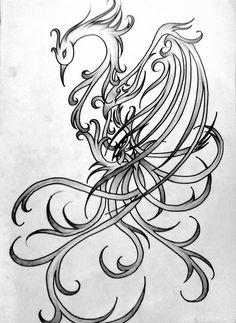 Simorgh, the fallen Phoenix by CrazyNives
