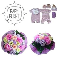 Baby bouquet made by Baby Buket. A perfect gift for baby shower, newborn baby and birthday.   #babybouquet#babybuket#purple#flowers#newborngift#babyshower#gift