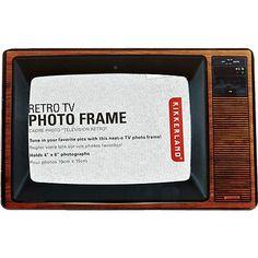 Brown retro TV photo frame - novelty - gifts - men