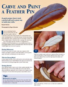 Carving Bird Feathers in Wood - Wood Carving
