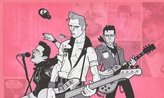 An Illustration of The Clash, minus Topper, who just didn't fit this layout.