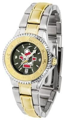 Youngstown State Penguins Ladies Stainless Steel and Gold Tone Watch by SunTime. $94.95. Water Resistant. Women. Links Make Watch Adjustable. Officially Licensed Youngstown State YSU Penguins Ladies Stainless Steel and Gold Tone Watch. Two-Tone Stainless Steel. Youngstown State Penguins Ladies Stainless Steel and Gold Tone Watch. A classic, business-appropriate look. This Penguins wrist watch features a gold ion-plated bezel, stainless steel case and date function. Secu...