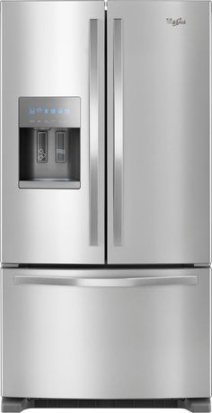 Whirlpool - 24.7 Cu. Ft. French Door Counter-Depth Refrigerator - Stainless steel (Silver), WRF555SDFZ