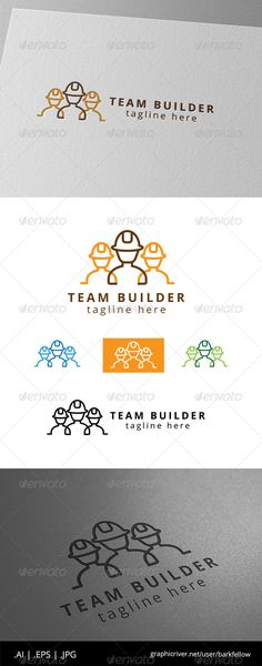 Team Construction and Builder Logo #constructions #corporate #corporative • Available here → http://graphicriver.net/item/team-construction-and-builder-logo/8565087?s_rank=189&ref=pxcr
