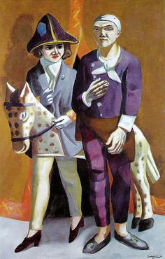 Max Beckmann, Carnival: The Artist and His Wife, 1925 by kraftgenie, via Flickr