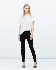 SKINNY PEACH FINISH TROUSERS-View all-Trousers-WOMAN | ZARA United States