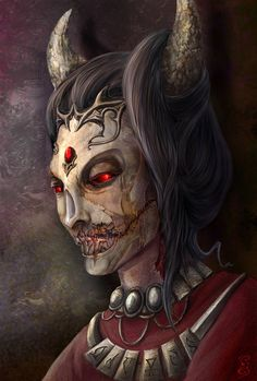 Namira the Lady of Decay Lovely art of this Daedric prince!