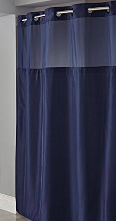 Hookless Navy Mystery Shower Curtain