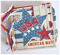 mini album, travel journal USA, scrapbooking, Reisetagebuch