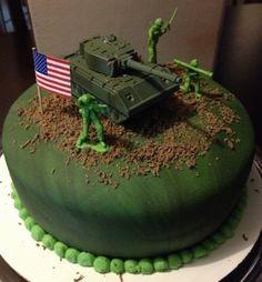 23 Ideas Birthday Cake Men For 2019 - Birthday Cake Fruit Ideen Army Themed Birthday, Army Birthday Parties, New Birthday Cake, 7th Birthday, Birthday Cakes For Men, Cakes For Boys, Army Cake, Military Cake, Military Party
