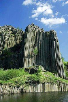Columnar basalt from north-western Czech Republic