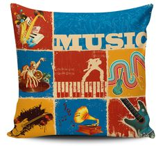 Almofada Music Vintage