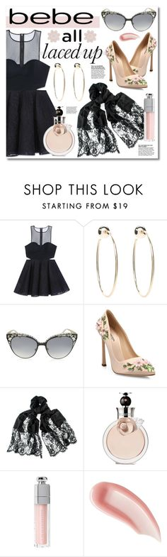 """""""All Laced Up for Spring with bebe: Contest Entry"""" by miee0105 ❤ liked on Polyvore featuring Bebe, Jimmy Choo, Giambattista Valli, Valentino, Christian Dior, Ilia and alllacedup"""