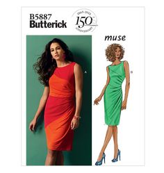 Misses' Dress Butterick 5887 Out of Print