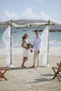 Ireland Seaside Inspiration Session From White Sage Events Magda Lukas Bamboo Wedding ArchBeach