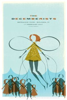 indie music poster design | the decemberists