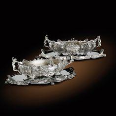 paire de jardinières ovales et leurs | silver | sotheby's pf9013lot3tfdqen