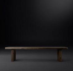 Reclaimed Russian Oak Plank Coffee Table   RH Modern