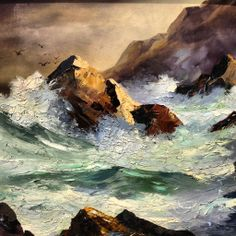 crashing waves painting
