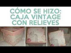 Decoupage: Caja Vintage (tutorial rápido) - YouTube