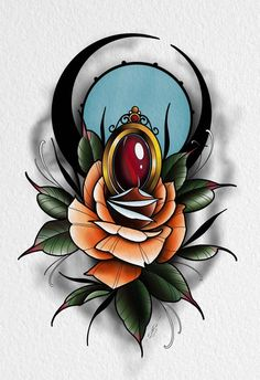 Tattoo Sketch, Neo Tattoo, Backpiece Tattoo, Flower Tattoo Drawings, Flower Tattoo Designs, Tattoo Ink, Neo Traditional Roses, Traditional Rose Tattoos, Traditional Tattoo Design
