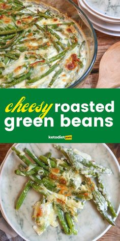 Oven Roasted Green Beans coated with creamy garlic sauce and topped with Parmesan and Mozzarella then perfectly roasted until golden brown – the BEST side dish! Dishes To Go, Best Side Dishes, Healthy Vegetables, Roasted Vegetables, Carrots In Oven, Beans Benefits, Oven Roasted Green Beans, Creamy Garlic Sauce, Frozen Green Beans