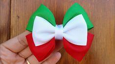 Making Hair Bows, Diy Hair Bows, Diy Bow, Diy Ribbon, Bow Hair Clips, Hair Ribbons, Candy Hair, Bow Template, Christmas Hair Bows