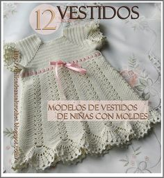 Delicadezas en crochet Gabriela: 12 Vestidos de niñas