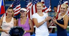 US Open: Martina Hingis falls short as Makarova and Vesnina win women's doubles