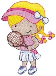 Tennis 8 - 2 Sizes! | What's New | Machine Embroidery Designs | SWAKembroidery.com Bunnycup Embroidery
