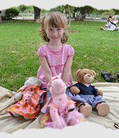 Annual Teddy Bear Picnic at Carrollton, Texas' A.W. Perry Homestead Museum.