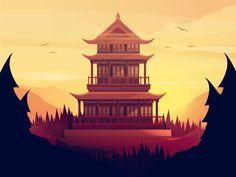 Mountain Temple by Inga Hampton