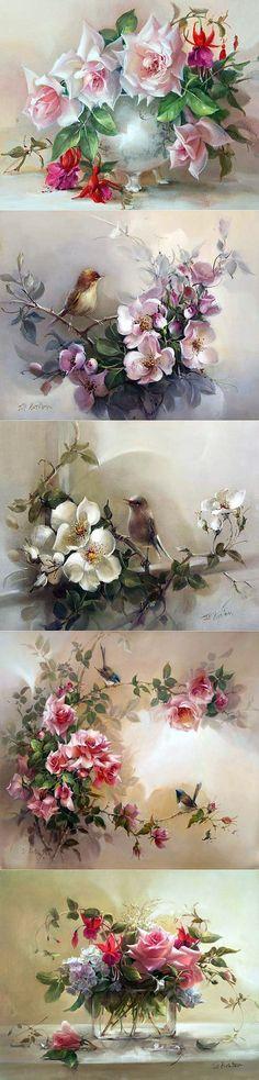Розы австралийской художницы Jill Kirstein... | Искусство | Постила