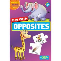 BPI FUN WITH OPPOSITES — This game is appropriate for kids aged 3 to 5 years. Fun with Opposite game pack comes in 3 trays with 12 picture cards each. This puzzle game is an interesting game for kids, designed for fun and help children learn opposites.