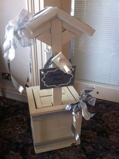 WEDDING WISHING WELL CARD POST BOX all it needs is butterflies