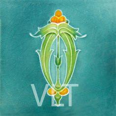 Art Nouveau Reproduction Tile #53, from Villa Lagoon Tile