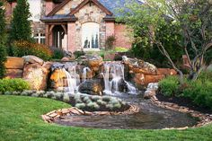 By Lanoha Nurseries Omaha Beautiful Waterfall And Pond In Front Yard Of Nebraska Home This Design Looks